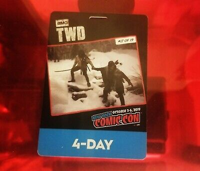 New York Comic Con 2019 NYCC 4-Day Pass Badge In Hand willing to meet or ship.