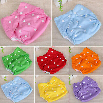 1PC Adjustable Reusable Lot Baby Kids Boys Girls Washable Cloth Diaper Nappies