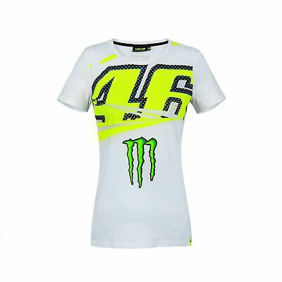 2018 VR46 Valentino Rossi #46 MotoGP Ladies Womens T-Shirt Tee Monster Energy