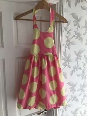 Mini Boden Girls Pink With Yellow Spots Halter-neck Dress Size 5-6 Years