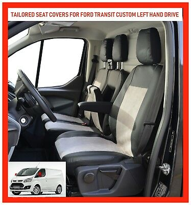 PREMIUM VAN SEAT COVERS FOR FORD TRANSIT CUSTOM - Leatherette LHD