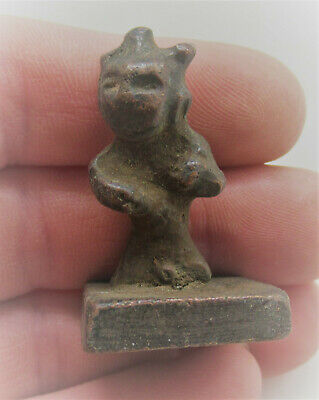 Circa 200-300Ad Ancient Gandhara Bronze Votive Figurine Unusual