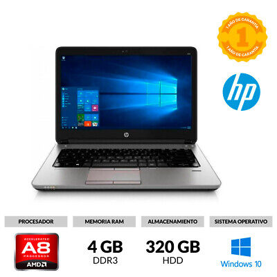 "Portátil 14"" Hp Probook 645 G1 Amd A8 5550M 2.50Ghz 4Gb Ram 120Gb Ssd Windows 10"
