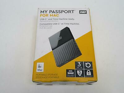 Western Digital My Passport For Mac 3TB Portable Hard Drive Black