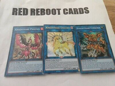 1x Knightmare Unicorn (mp19 ultra) + Phoenix + Cerberus (flod super) yugioh mint