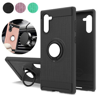 For Samsung Galaxy Note 10/Note 10 Plus Slim Hybrid Ring Stand Phone Case Cover