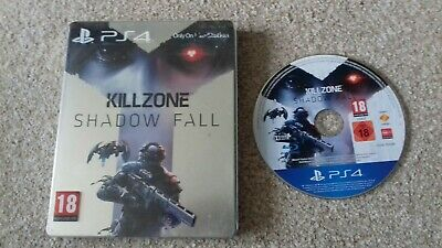 playstation 4 game killzone shadow fall stellbook steel tin edition