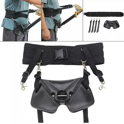 Stand Up Offshore Fishing Gimbal Padded Waist Belt Harness Rod Pole Holder N0M9