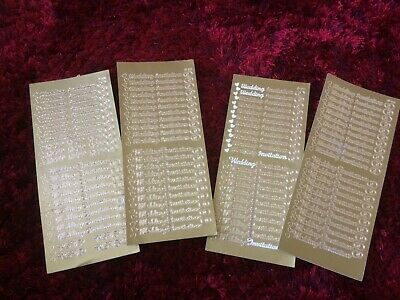 Gold Wedding Invitation Card Making Decal Stickers X 4
