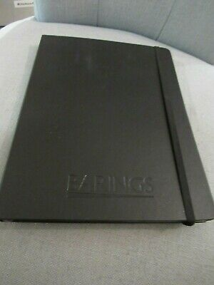 "Moleskine Notebook Hard Cover, Large (5"" x 8.25"") Ruled/Lined BLACK Emb BARINGS"