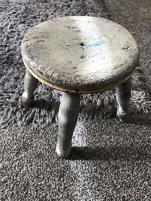 vintage wooden milking stool