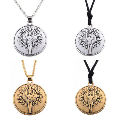 Yoga Pendant Necklace Tibetan Buddhist Protection Meditation Jewelry Women Mens