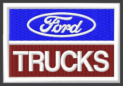 "FORD TRUCKS EMBROIDERED PATCH ~3-1/2""x 2-3/8"" BRODÉ MUOKKAA BRODERAD PARCHE F350"