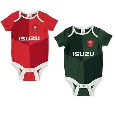 Wales Rfu Rugby Union Kit 2 Pack Babies Vests Sleep Suit Baby Grow Boy Clothes