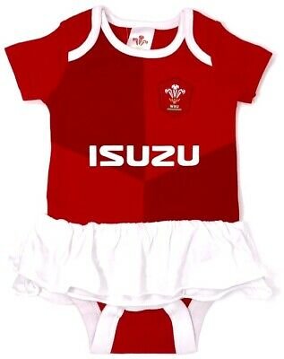 Wales Rfu Babies Rugby Union Tutu Body Dress Baby Girls Dance Party Girl Vests