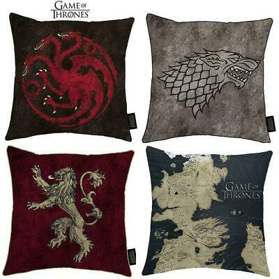 Game of Thrones Cushion - Stark Lannister Targaryen Throw Bed Pillow Xmas Gift