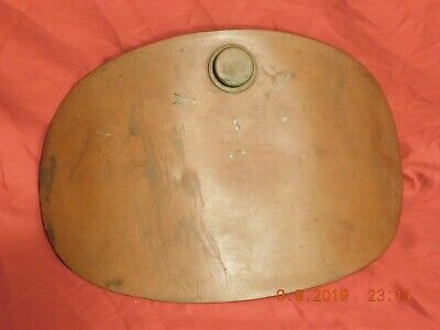Antique Late 1800's Early 1900's Solid Brass Curved Stomach or Foot Warmer