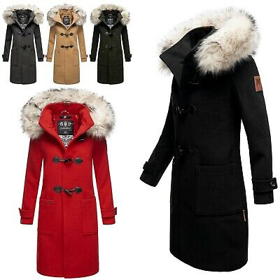 reputable site 89e11 63dab NAVAHOO DAMEN WINTERMANTEL Jacke Dufflecoat Business Trenchcoat Parka  Oksana Neu