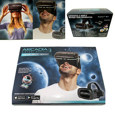 Arcadia Virtual Reality 360° Headset for Smartphone Built In Action Button
