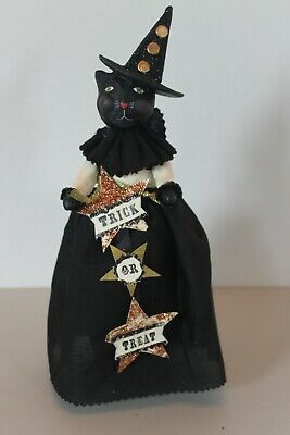 Esc Trading Co. Halloween  Trick Or Treat Black Cat Figurine By Heather Myers!!!