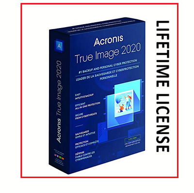 Acronis True Image 2020 Backup Software Lifetime License E-mail Delivery