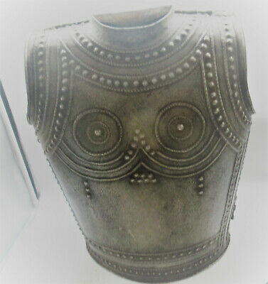 Very Rare Late Medieval Islamic Ottomans Silvered Chest Plate Body Armour 1700Ad