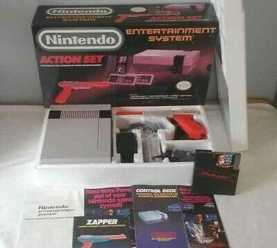 Nintendo Entertainment System Action Set Beautiful Condition Complete NES Mario