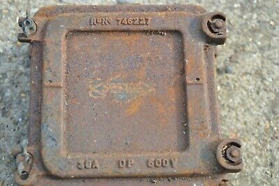 Vintage Cast Iron Electrical Fuse Box Switch Wall Storage Light Lamp 746227