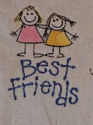Mum Gift Embroidered Best Friends Flannel Gift Sleepover White Girls Personalise