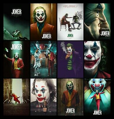 Joker Joaquin Phoenix Movie Pennywise It Poster Art Print - A4 A3 A2 A1 A0 Sizes