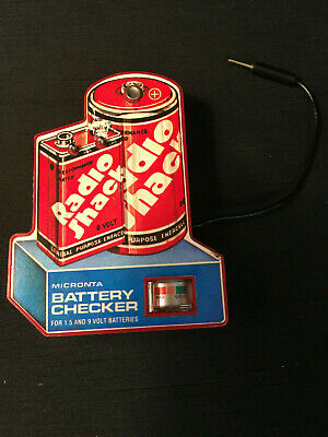 Vintage Radio Shack Micronta Battery Checker For 1.5 & 9 Volt Batteries *To