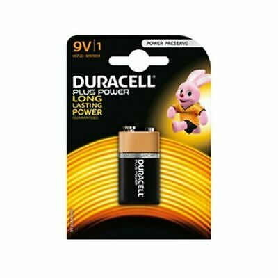 10 X Duracell Plus 9V Battery MN1604 6LR61 PP3 for Clocks, Remote Controls etc.