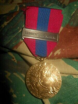 Medaille Defense Nationale  Troupes De Marine Tdm French Medal