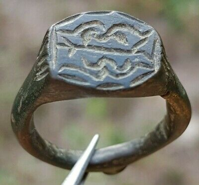 Perfect Ancient Roman Ring 2 Snakes Serpents