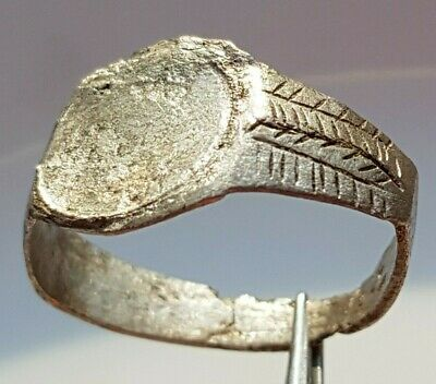 Silver Ancient Roman Ring Fertility Grain