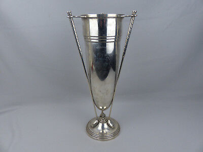 Antique Vintage Sterling Silver Figural Golf Club Trophy Vase Wallace 939 grams