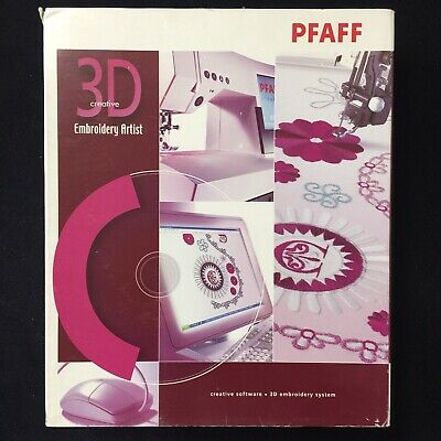 3D Embroidery Artist for Pfaff Embroidery Machines includes Dongle