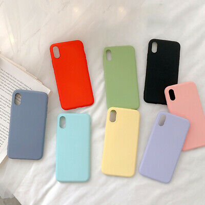 Shockproof Rubber Cover Liquid Silicone Phone Case On For Iphone Soft TPU Cov@.