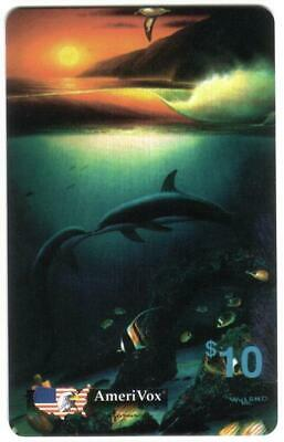 $50 Wyland Whales Album (Nice Set In Folder) 5 Different $10. Cards Phone Card