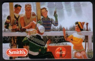 1997 Smith's: 5 Young People Chatting & Holding Coke Bottles SPECIMEN Phone Card