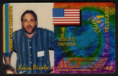 $1. Kevin Pirolo - Endangered Species ACMI Phone Card Executive USED Phone Card