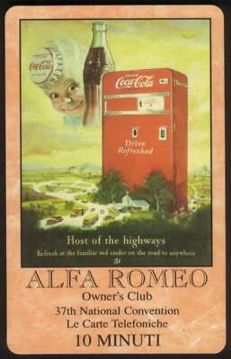 10m World of Coke: Alfa Romeo Owner's Club Convention 'SAMPLE' Phone Card