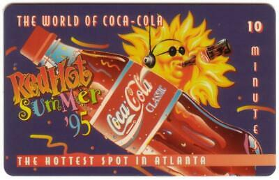 10m World of Coke (#2) 'Red Hot Summer '95' 'SAMPLE' 'Score Board' Phone Card