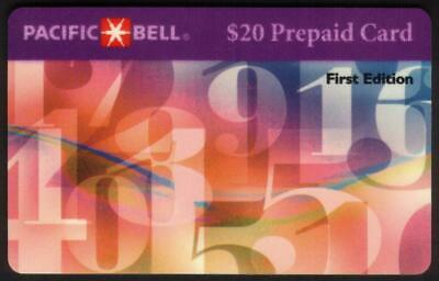 $20. Floating Numbers 'First Edition' WITH Scratch-Off. Exp 05-15-96 Phone Card