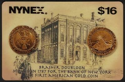 $16. Brasher Doubloon Rare Coin Series. Bank of New York JUMBO USED Phone Card
