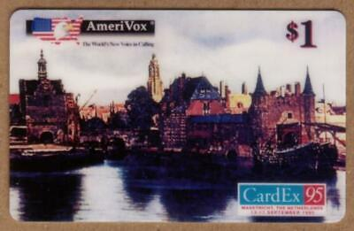 $1. CardEx '95 (Maastricht) 'View of Delft' Artwork by Vermeer TEST Phone Card