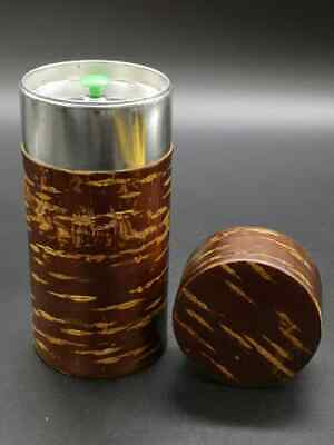 Japanese cherry bark iron Tea Chaite tea caddy canister Tall 15.5 Cm