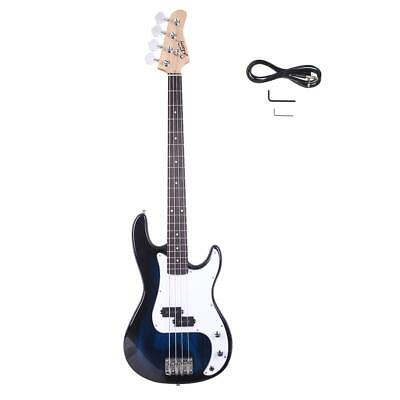 Glarry 4-Strings Electric Bass Guitar With 20W AMP Dark Blue Wooden Body LJ