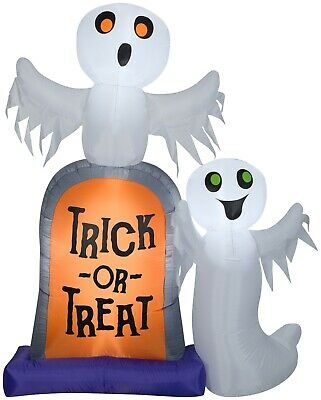 Ghosts With Tombstone Inflatable Gemmy 7 ft. Halloween Outdoor Decor New