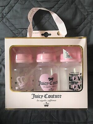 NEW JUICY COUTURE 3-pack 11oz. BPA Free leak proof baby / infant bottles, $48
